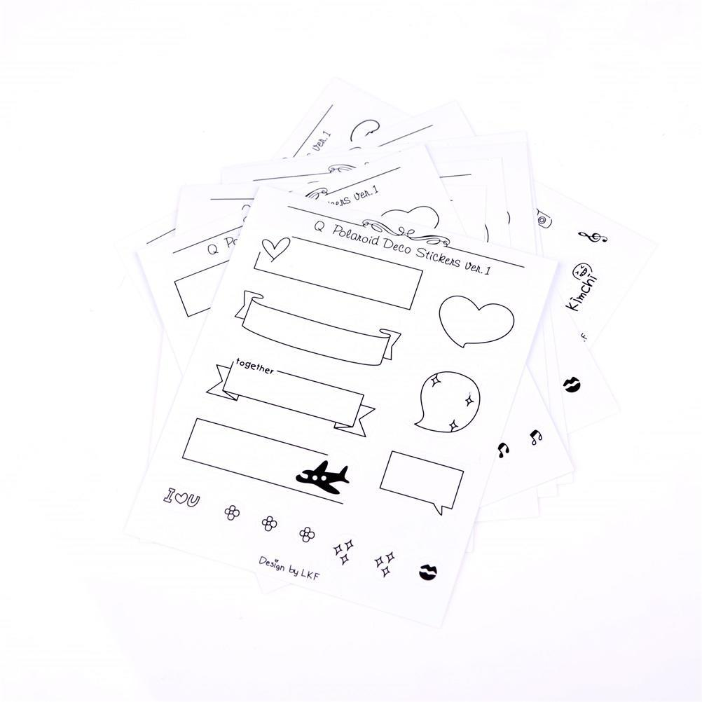 8sheets set Aufkleber für Polaroids Foto Scrapbook Diarybook Notebook  ^