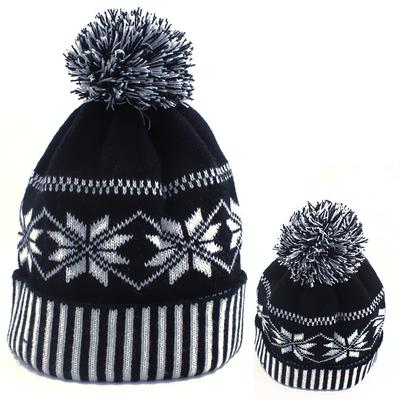 Fashion Winter Warm Hats Pompoms Solid Color Thick Outdoor Cap Men Soft Knitting Hat Unisex
