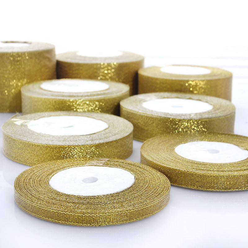 """25 Yards 3//2/"""" 38mm Glitter Ribbons Bows Bling Wedding Gift Packing Craft Decors"""