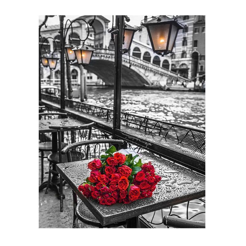 5D Роза DIY Diamond вышивка живописи цветок Дом Декор ремесло – купить по низким ценам в интернет-магазине Joom