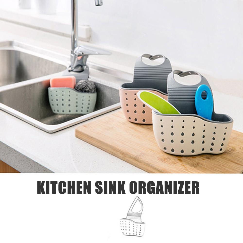 Organizer Sink Faucet Rotatable Drain Rack Soap Kitchen Storage Double Layer