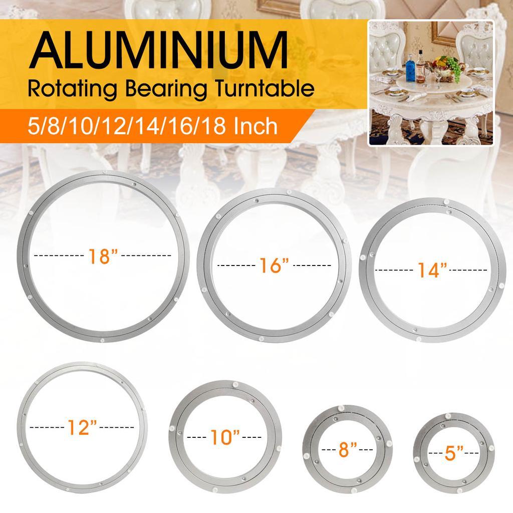 "5-18/"" Table Lazy Susan Rotating Aluminium Turntable Bearing Heavy Duty Mechanism"