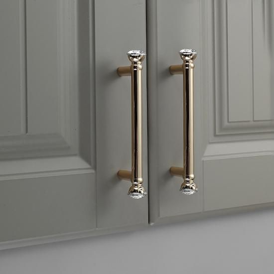 European Luxury Gold Solid Zinc Alloy, Upscale Kitchen Cabinet Handles