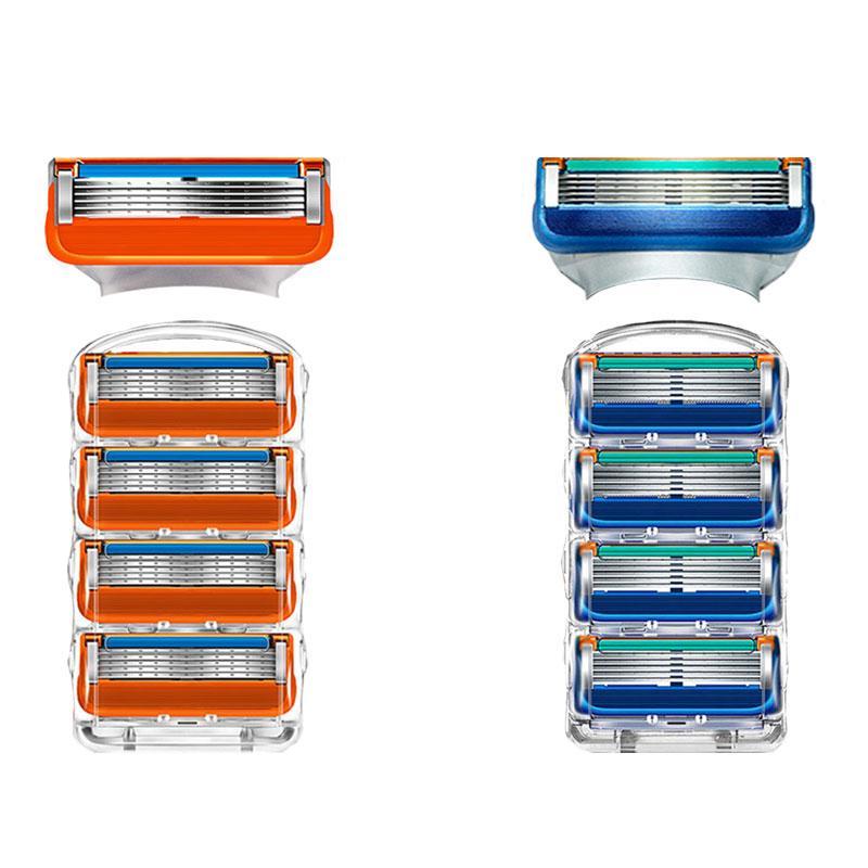 4Pcs Оранжевый синий 5 слои бритья реального высокого качества бритвы лезвия для Gillettee fusione чувствительных – купить по низким ценам в интернет-магазине Joom