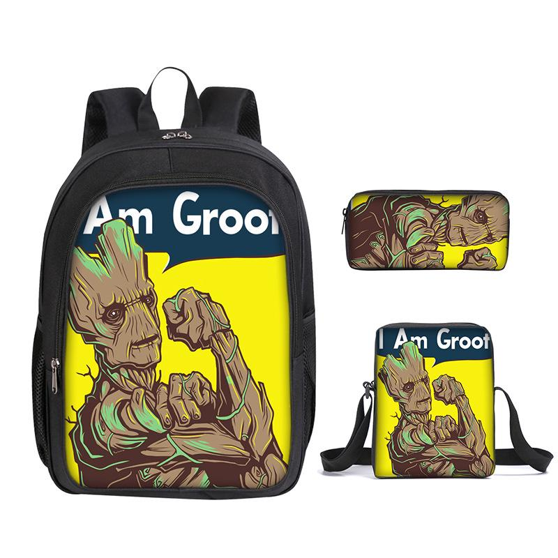 New Groot Schoolbag Kids Boys Backpack Insulated Lunch Bag Pen Bag Purses LOT