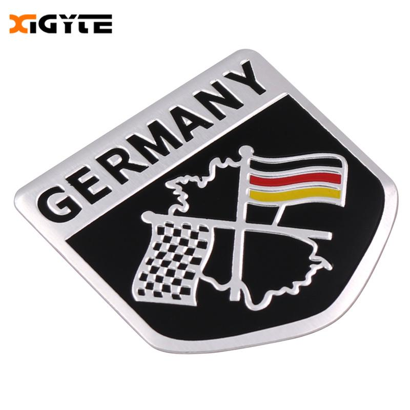 1x Aluminum German Flag Emblem Grille Badge Metal Racing Car Decal Sticker 5x5cm