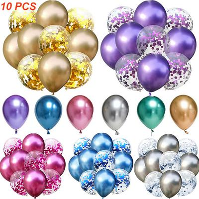 Mixed Gold Balloons Birthday Party Decoration Kids Adult Metallic Air Balloon Inflatable Decor
