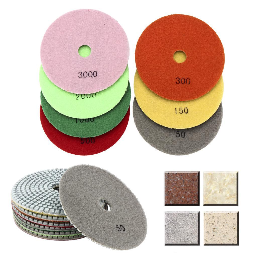 "5/"" Dry Diamond Polishing Pads Best Value Set of 9 PCS for Granite//Concrete//Stone"