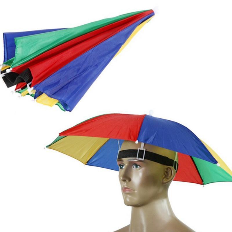 c20f902cb64 Umbrellas portable fishing camping outdoor sports multicolor hat sun  umbrella