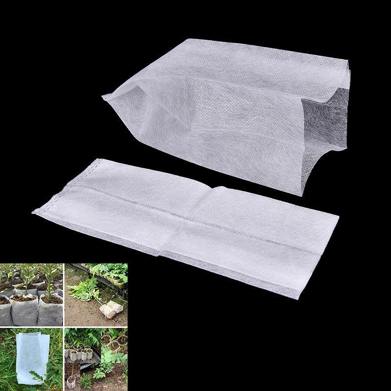 100Pcs//Bag Nursery Pots Seedling Raising Bags Plant Pouch Garden Supply