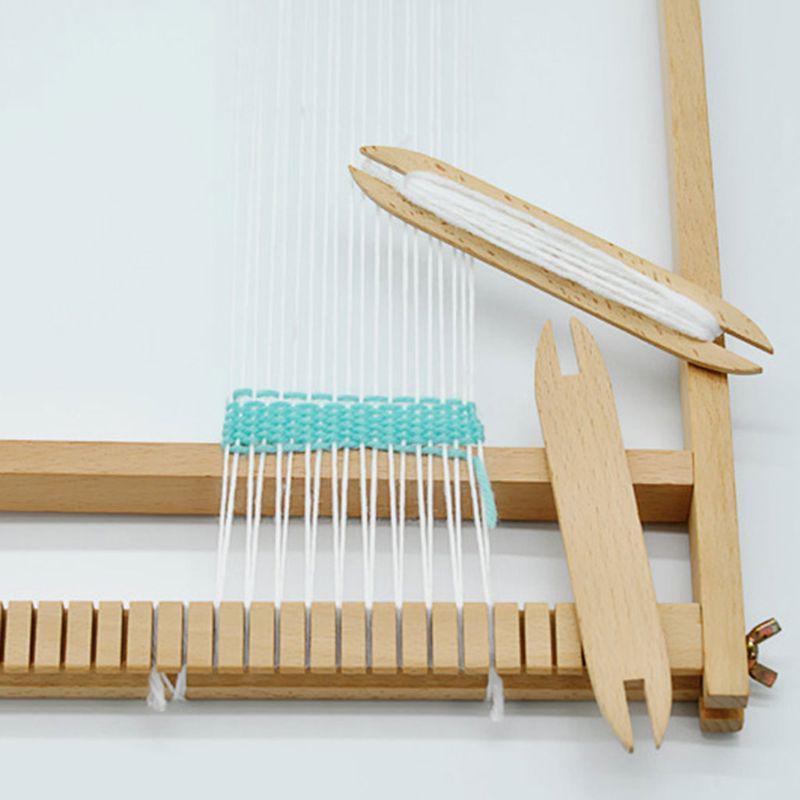 Beech Wood Weaving Shuttle Loom Knitting Tool Sweater Scarf Tapestry Stick  YS
