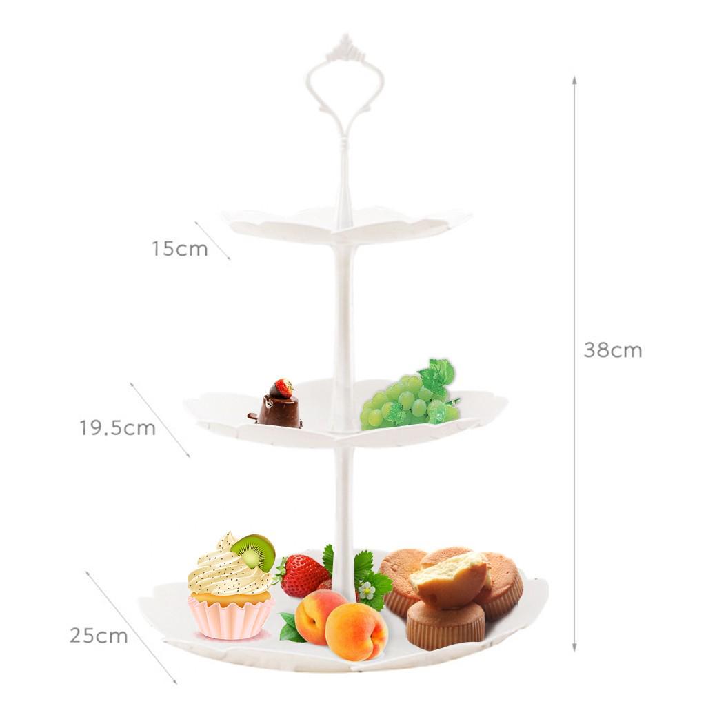 3 Tier Fruit Vegetable Basket Snacks Cupcake Display Rack Tray Storage Holder UK