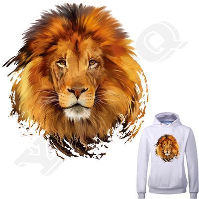 3D Lions Patch Iron On Clothes A-Level Washable Parches Ropa New T-Shirt Diy Decoration Applique