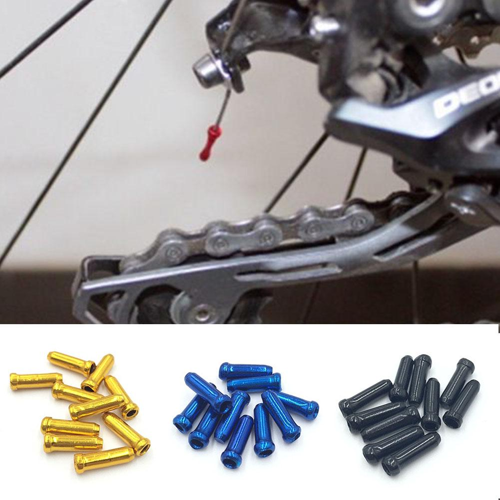 10x Bike Bicycle Brake Shifter Derailleur Inner Cable Wire End Cap Crimps