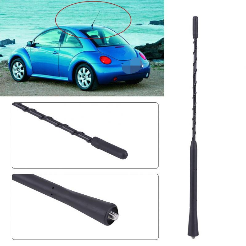 Car Auto Vehicle Antenna Aerial AM FM Radio Amplified Roof Whip Mast Black 11/""