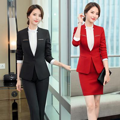 a4b0fab3dc5 Women Tracksuits 2pcs Single Bottom Blazers Coat +Pants or Skirts Formal  Elegant Lady Business Suits-buy at a low prices on Joom e-commerce platform