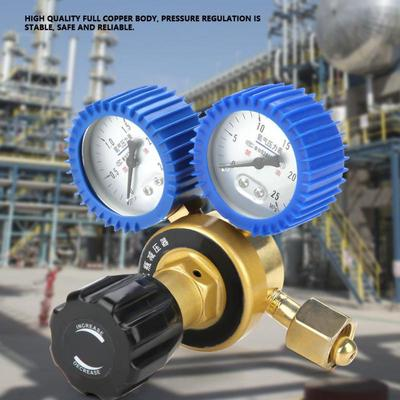 0 4-25MPa Oxygen Gas Pressure Reducer Air Flow Regulator Gauge Meter