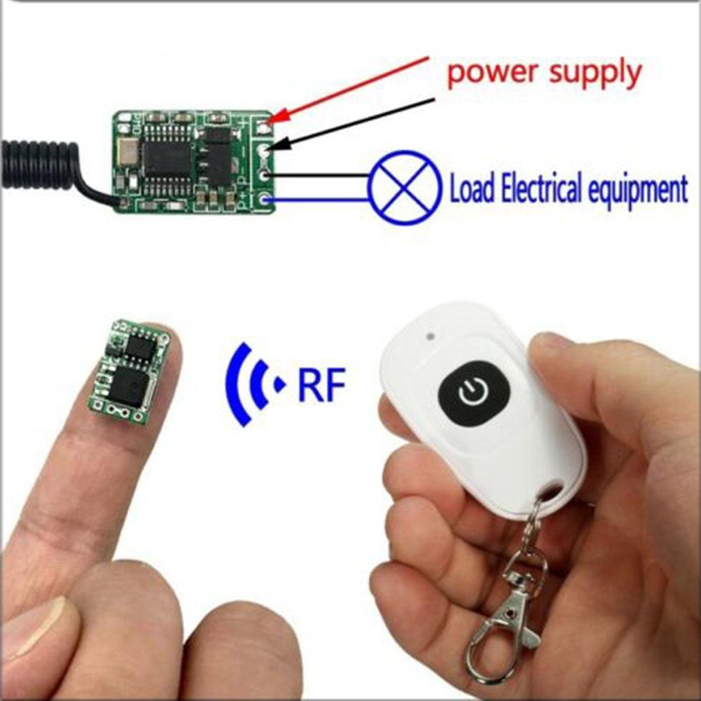 3.7v 6v 12 Wireless Remote Control Switch 433mhz rf Mini Small Controller Module