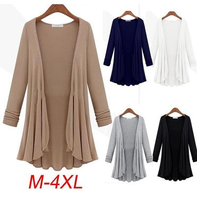 Hanyu Women's Fashion Plus Size Casual Long Sleeve Cardigan