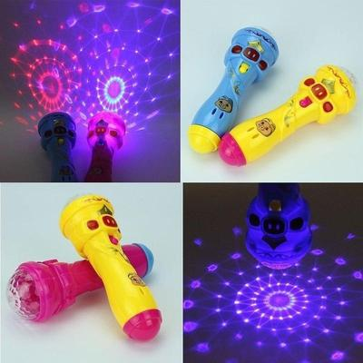 6 In LED Projection Microphone Flash Microphone Light-emitting Children Toys Kids