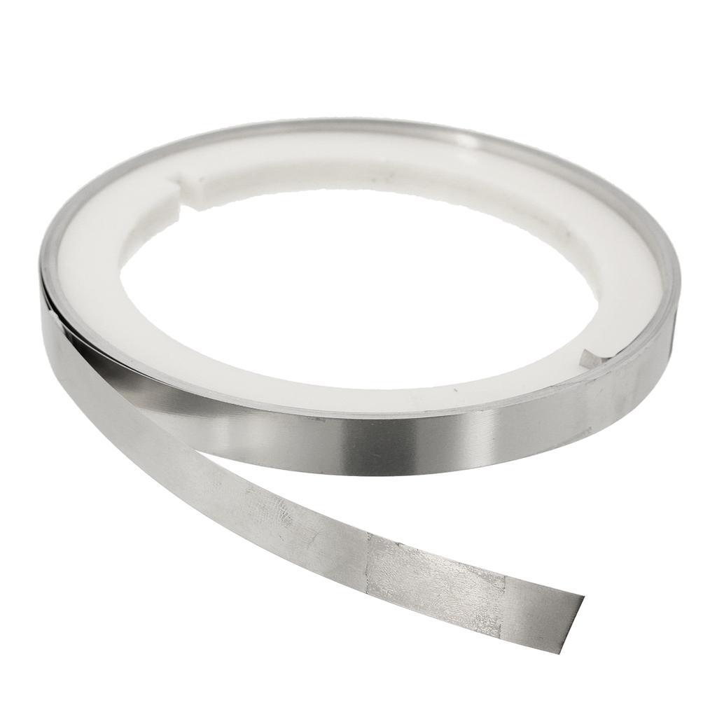 5M 10X0.15T DIY Pure Nickel Strap Strip Plating Steel Sheet Roll for Welding !
