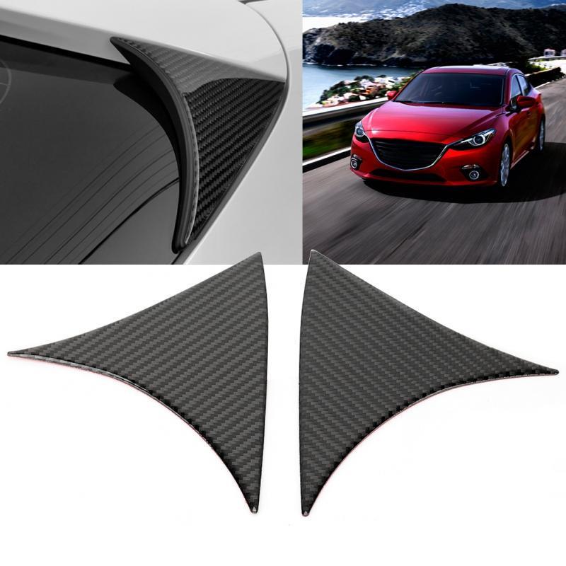 4Pcs FOR Mazda3  Axela 2014-2018 Carbon fiber Style Front Bumper Lip Cover Trim