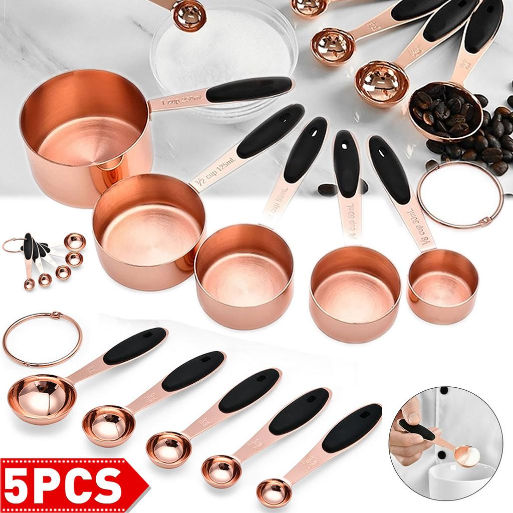 4Pcs//LOT Stainless Steel+PP Measuring Cups Spoons Kitchen Baking Cooking Tool