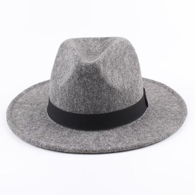 92e35c0b4f756 ZHIYI Women Men Unisex Felt Trilby Hats Wide Brim Adjustable Fedora Jazz Hat  Caps