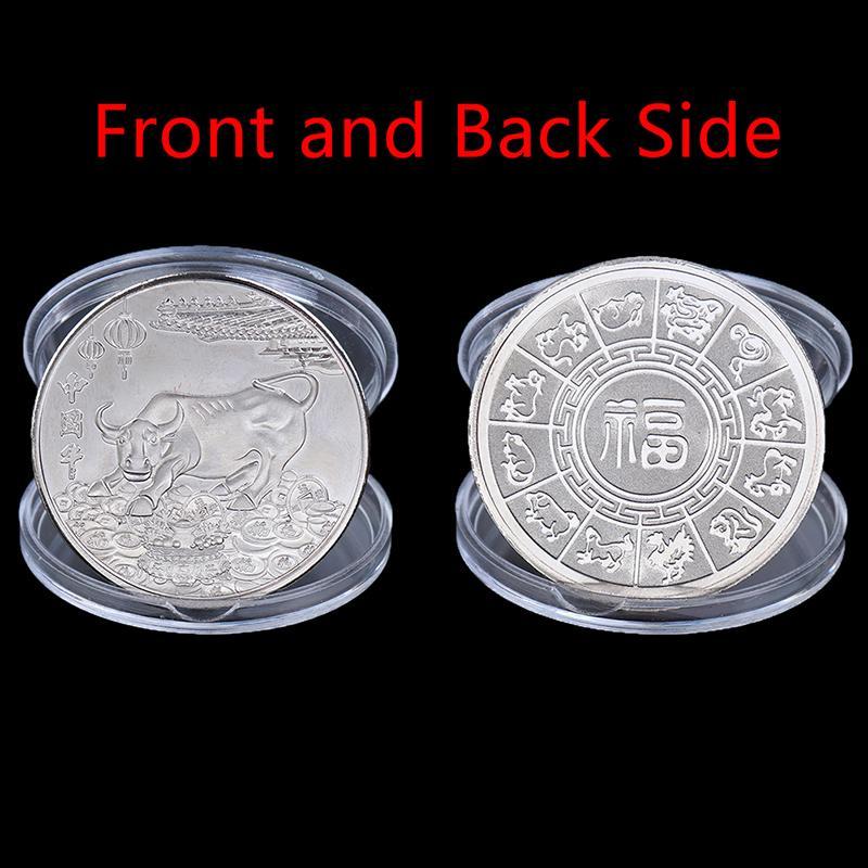 2021 New Year commemorative note Ox Commemorative Coin Souvenir Gift Home Decor*