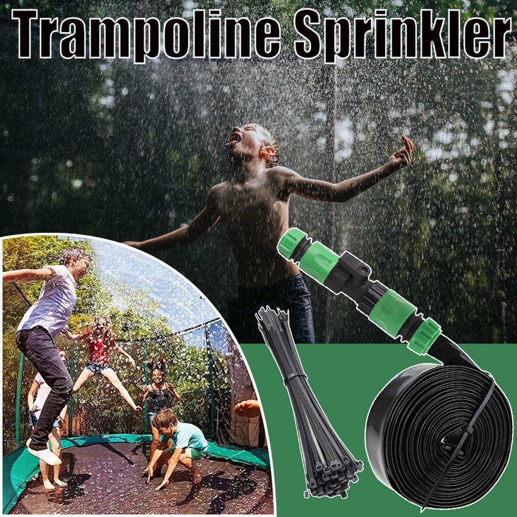 Trampoline Sprinkler Outdoor Kids Water Sprinkler Summer Water Fun for Kids Yard