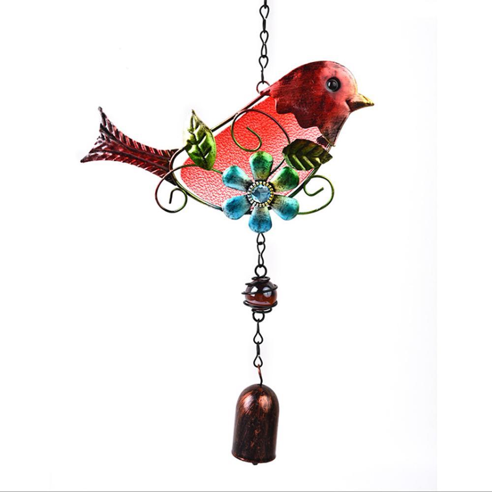 Hummingbird hand made glass wind chime sun catcher yard and garden decor