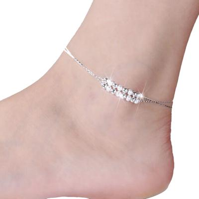 Womens Ankle Bracelet Silver Gold Plated Sterling Anklet Foot Chain Beach Beads