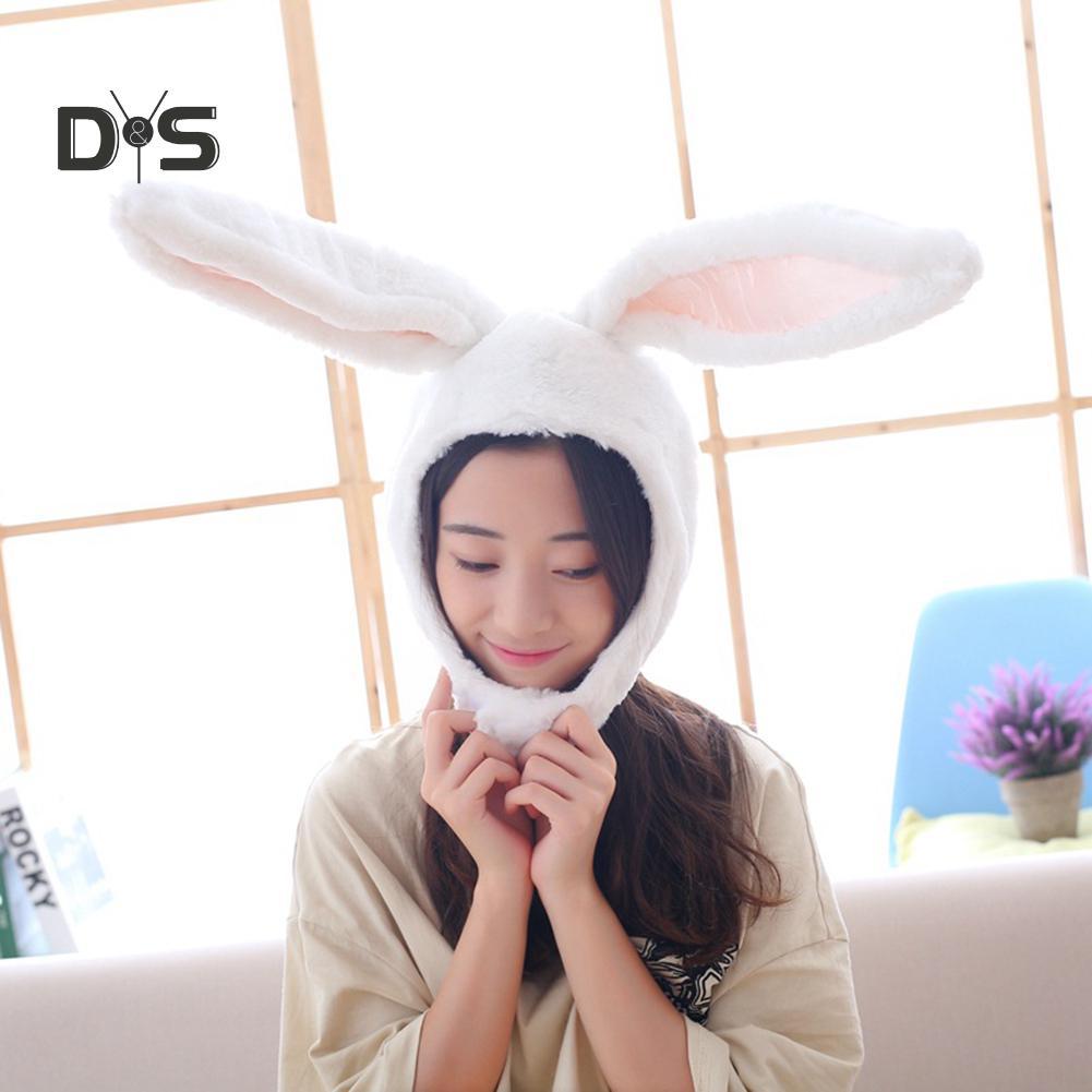 BUNNY PLUSH ANIMAL HAT soft warm earmuff cap head NEW winter novelty hats rabbit