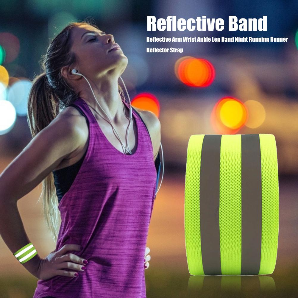 Reflector Arm//Leg Band Belt Strap For Night Cycling Running Tools Accessories