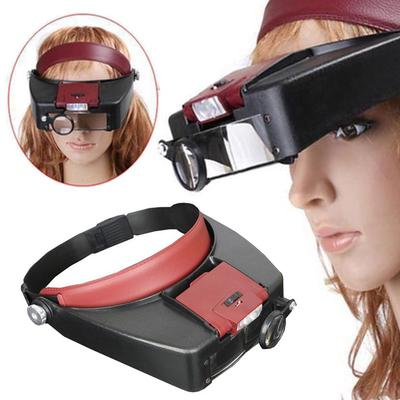 Upgraded Version Head Magnifying Glasses With LED Magnifier Magnifying Glass Loupes For Reading Jewelry Watch Repair