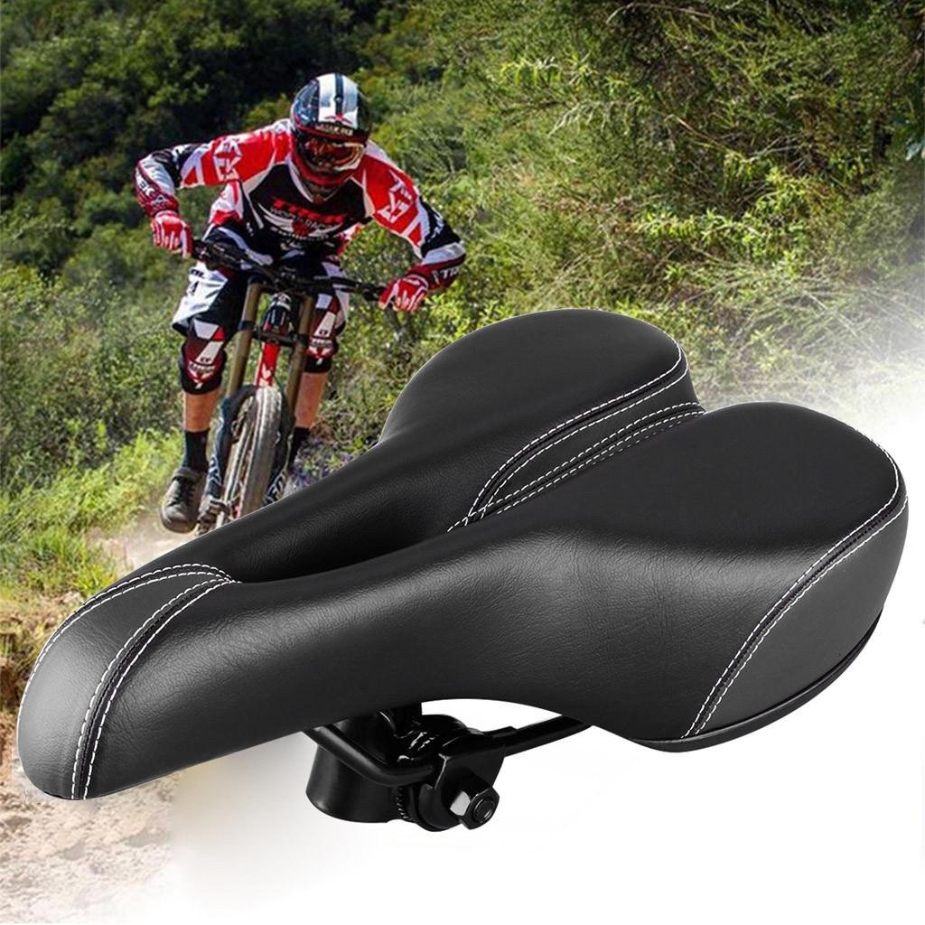 Comfort Wide Big Bum Bike Bicycle Shockproof Extra Sporty Soft Pad Saddle Seat