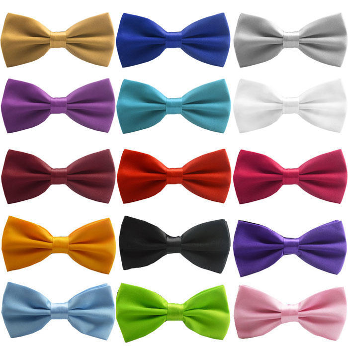 Details about  /NEW Tuxedo Classic Bowtie Pure Plain Neckwear Adjustable Unisex Bow Tie Red