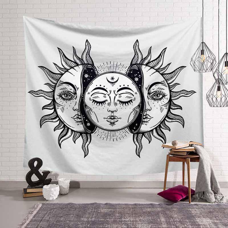 Constellation Tapisserie Star Sun Tarot Hippie Celestial bohème pendaison photo