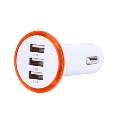for iPhone//Samsung//HTC,Tuscom@ 2.1A LED USB Dual 2 Port Adapter Socket Car Charger Blue