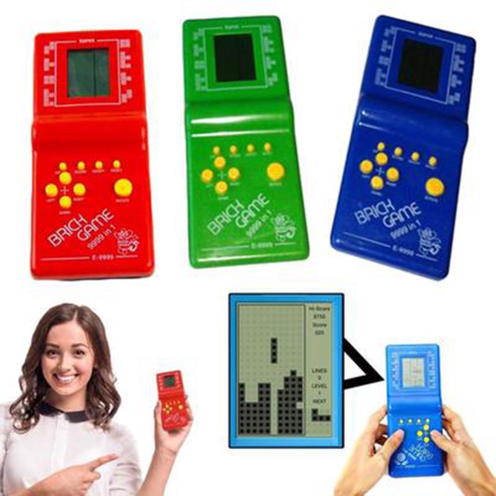 LCD Game Electronic Vintage Classic TETRIS Brick Handheld Arcade Pocket Toy