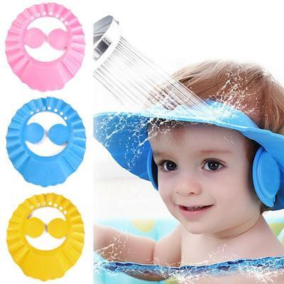 Adjustable Baby Kids Shampoo Bath Shower Caps Wash Hair Waterproof Shield Hats