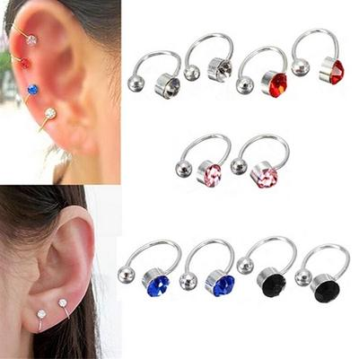 No Piercing Clip on Earring Crystal piercing-Clip Ear Clip Cuff