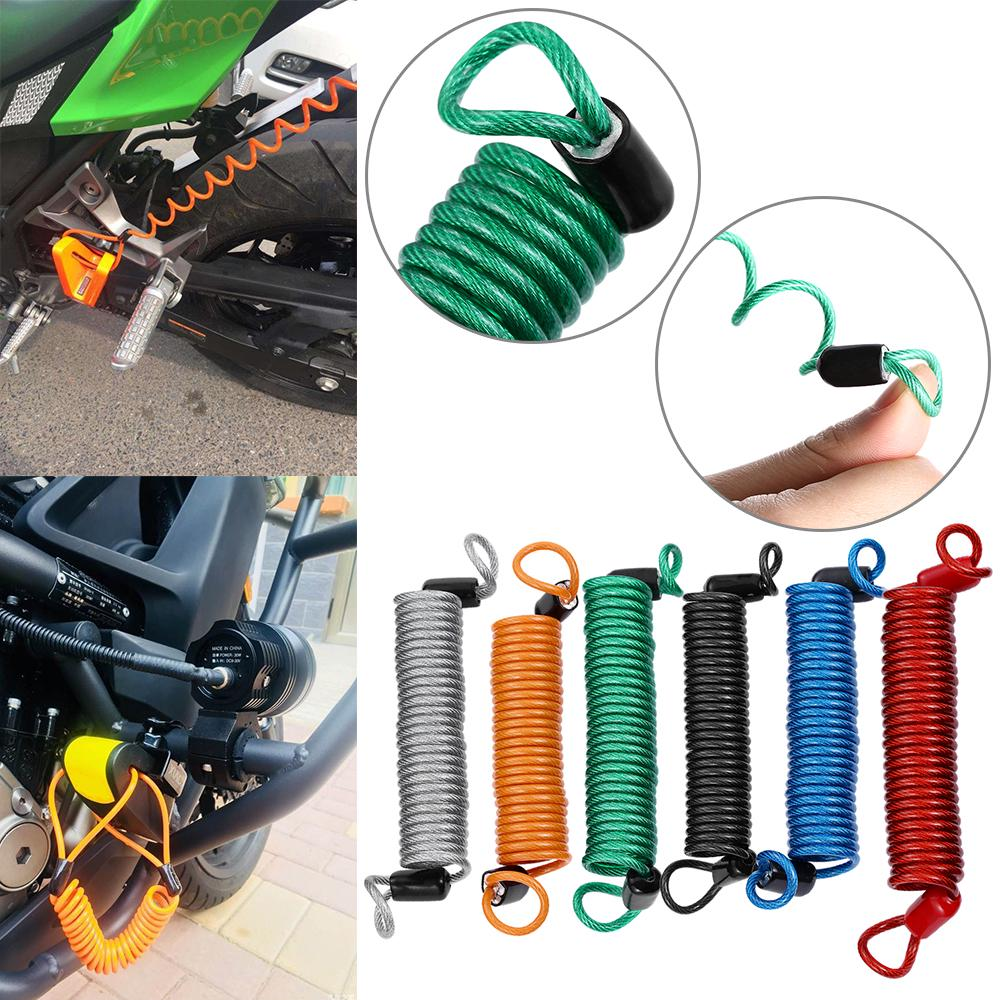 Accessories 150cm Anti Thief Spring Reminder Cable Alarm Disc Lock Security