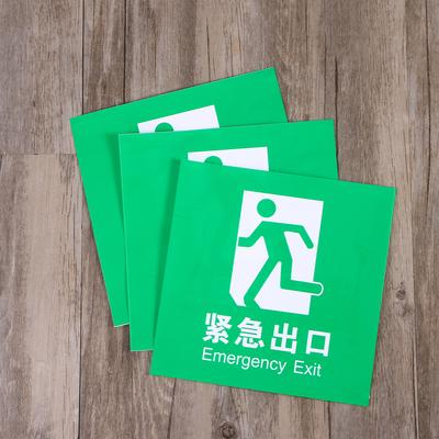 EXIT Sign Noctilucence Luminous Wall Sticker Decal Emergency Door Safety Sign
