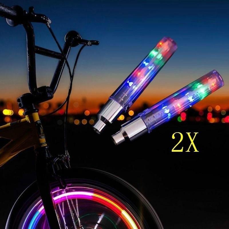 Valve Stem 5 LED CAP Flashing Light Bike Bicycle Motorcycle Wheel Tire Lamp 1Pcs
