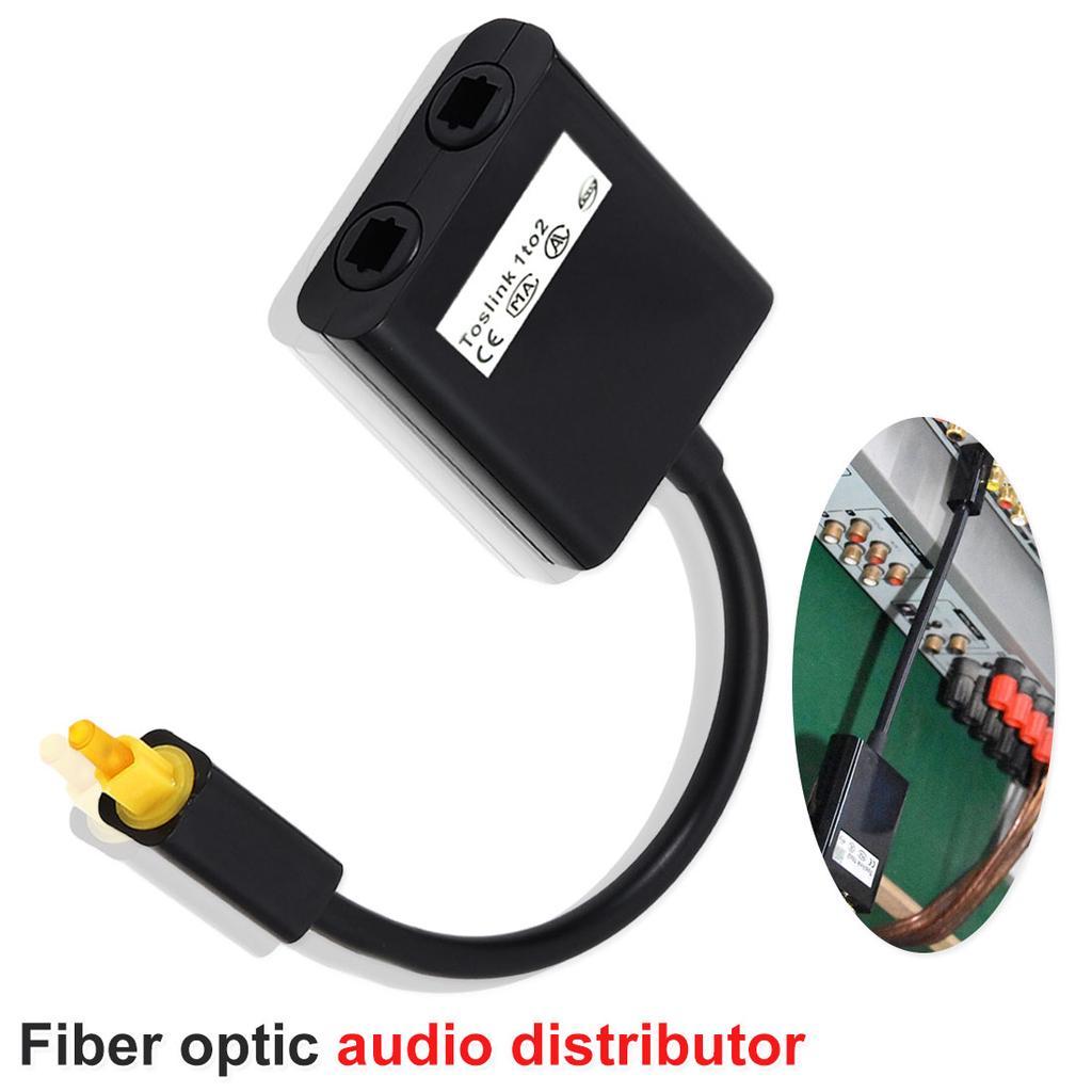 Magideal Toslink Cable Optical SPDIF Digital Audio Y-Splitter Adapter