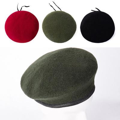 Hot Unisex Military Army Soldier Hat Beret Men Women Uniform Adjustable Cap