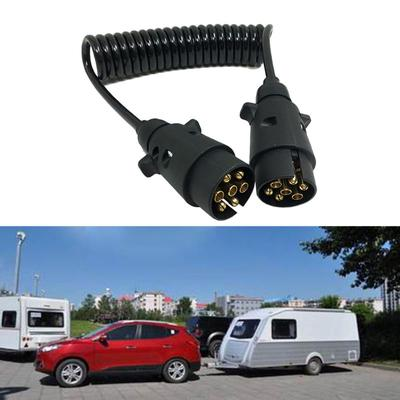 12V 7 Pin Plugs Trailers N Type Extension Conversion Lead with Curly Cable