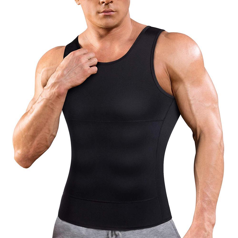 cămașă de compresie de slăbire a bărbaților)