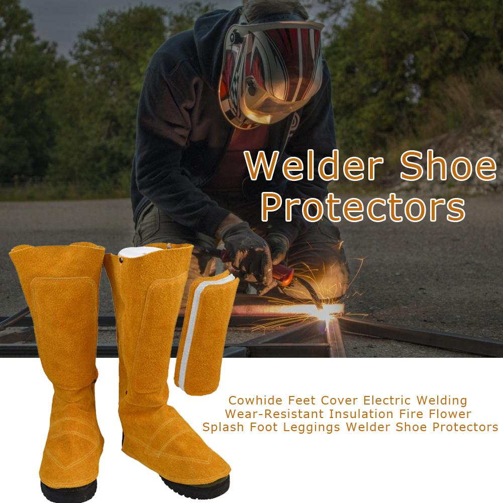 1 Pair Welding Protective Shoe Feet Cover Fire Flame Resistant for Welder